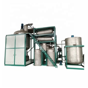 Yellow Fuel Oil from Waste Engine Motor Oil by Distillation Diesel Pyrolysis Machine