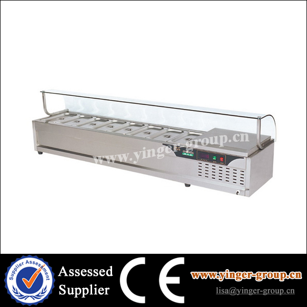 YGKBM-8C Stainless Steel Table Top Electric Cold Bain Marie