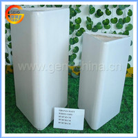 White triangle fiberstone glass flower pots with modern style