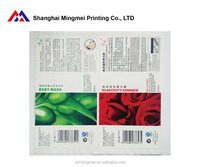 transparent pvc printing plastic bottle sticker label