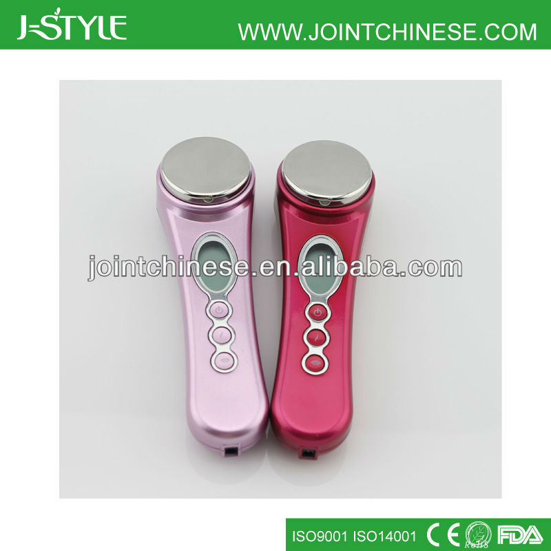 Lady Use Ultrasonic At Home Skin Tightening Machine
