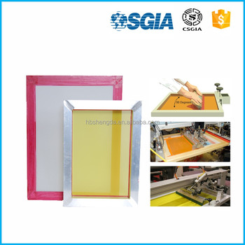 12% off trade assurance 72t WHITE MESH 18*20inch silk screen frame with mesh