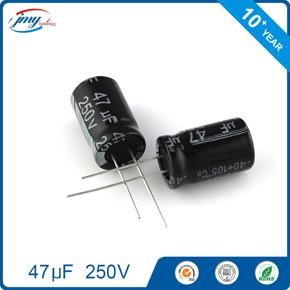 13*21mm Aluminum electrolytic capacitors 250V 47uF
