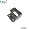 Stainless steel pipe fitting rectangular tube wall flange