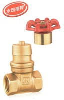 Brass magnetic lockable api gate valve/pegler gate valve with cover