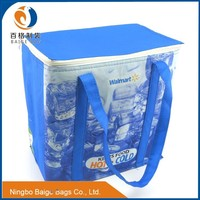 BSCI AUDITED china manufacture flat folding recycled pp non woven lunch bag with lamination