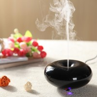 Round piano black ultrasonic aroma diffuser,aromatherapy diffuser/sunflower oil