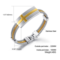 Hot Sale Titanium Steel Cross Bracelet