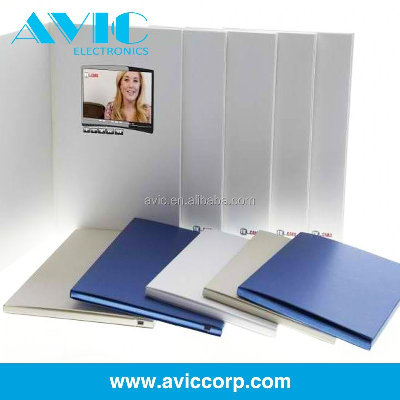 Rechargeable LCD Video Brochure Card modules for with 4 color printing business promotion
