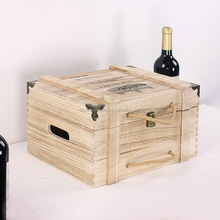 Hot Sells Handle wooden box Wholesale/ Custom Wooden Wine Box/ cheap wooden crates