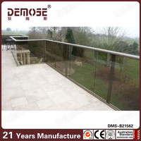 verandah exterior glass panel fence