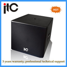 High end professional 18 inch subwoofer speaker box with ultra-low frequency