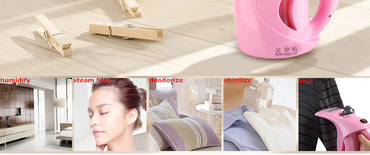 2016 small gift hot selling as seen on tv steam buddy portable mini clothes fabric care iron lightsome steamer