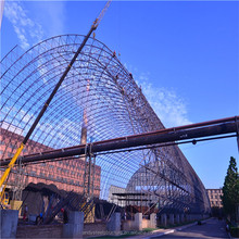 Large span steel space frame structure shed used coal thermal power plant