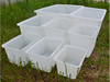 CHina plastic factory supply polyethylene rectangular plastic bulk rolling tub