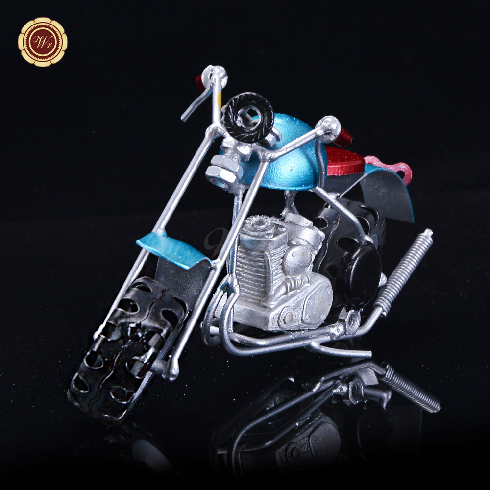 WR <strong>Mini</strong> Souvenir Gifts Metal Motorcycles Model Collectible Colored <strong>Motorbike</strong> Toy Gifts Vintage Home Office Desk Decor 17*4.5*8cm