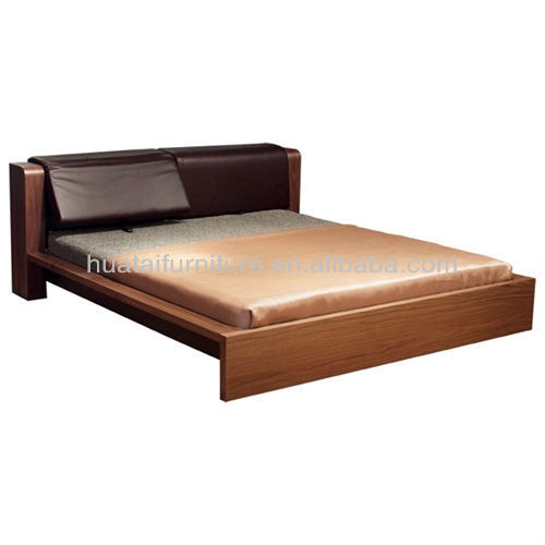 Unique Design Adjustable Genuine Leather King Bed Simple and Comfortable Double Bed in Furniture