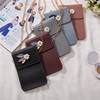 PU Floral Cellphone Magnetic Closure Messager Crossover Bag with Chain Shoulder Strap