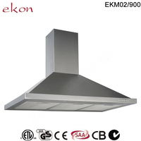 900mm domestic premium 3 speed mechanical control inox tower best stainless steel chimney range hood with timer function