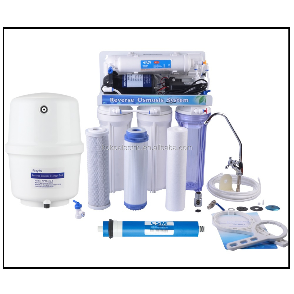 KOKO brand 5 stages undersink R.O water filter R.O <strong>system</strong>