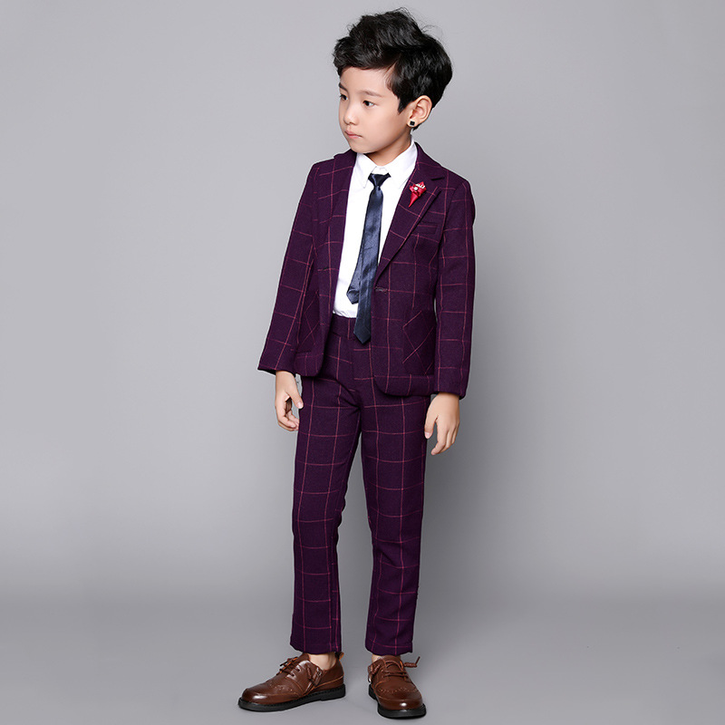 Child Clothes three piece suits formal wear baby boy mens groom wedding suits Set