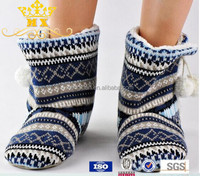 hot-selling low price beautiful denim knitted boots