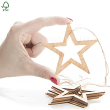 Wholesale unfinished wood ornaments christmas laser cut wood ornaments