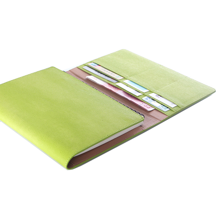 Tri-fold Sprial Notebook PU Cover A5 Journal Books Leather Diary Cover