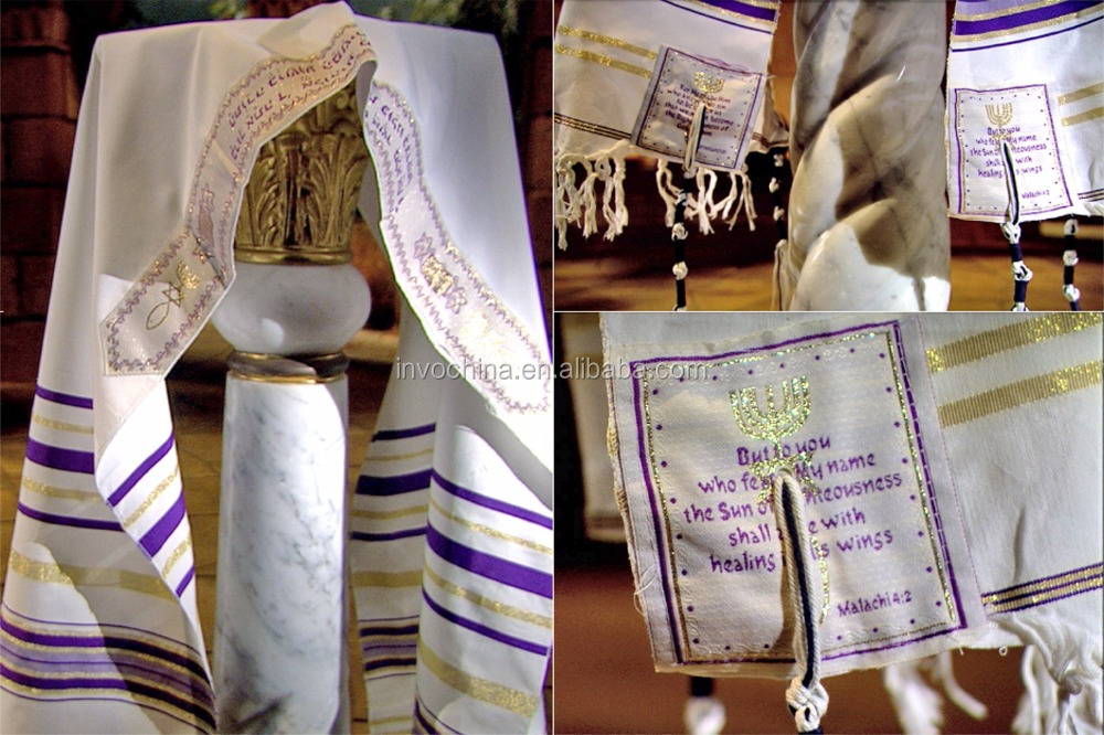 Prayer shawl Christian Gift pack Blue,black and Pink Tallit