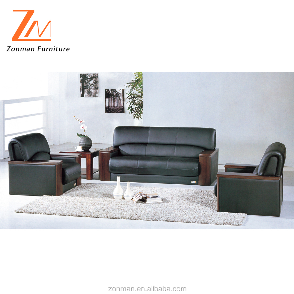 Single leather modern office sofa with stainless steel legs