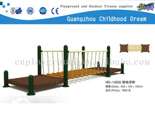 (HD-14202)Outdoor playground wooden floating pontoon bridge