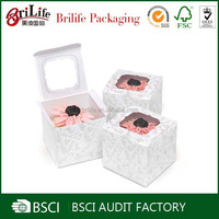 Custom Hot selling paper cardboard mini cupcake boxes