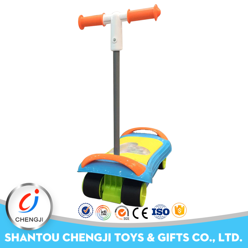 Hot popular sliding musical kids plastic scooter with light