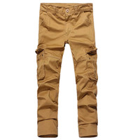 hot models factory directly supply high-grade fabrics cotton multi-pocket overalls outdoor leisure pants for men.