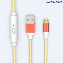 novel design micro reversible usb cable fast charging usb cable with switch
