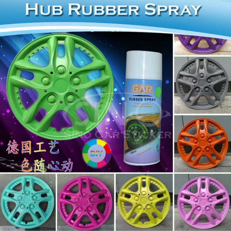 Removable Green Car Rubber Spray Paint For Car Wheels Wrapping