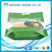 Plastic Chicken food packaging with Large punch and zipper