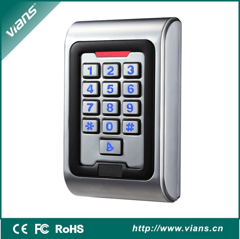 metal digital access control keypad with door bell rfid. Black Bedroom Furniture Sets. Home Design Ideas
