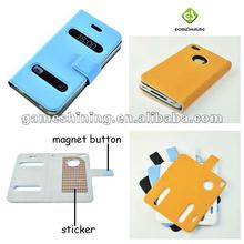 Hot Sale Portable Table Talk Leather Flip Case For IPHone 4 and Iphone 4s