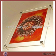 Transparent Elegant A4 Top Grade Wall Acrylic Lucite Plastic Advertising Board Poster Frame Picture Photo Display Frames