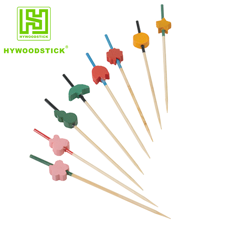 2018 High Quality Disposable Bamboo Fruit Stick With Bead