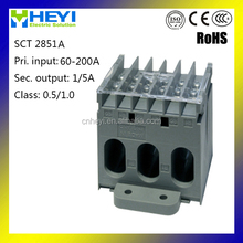 New design three phase CT SCT 2851A 60/5A cable or bus-bar current transformer