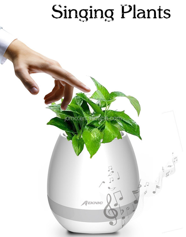 2017 new arrival bluetooth products high-tech fashion music flowerpot with speaker from Chinese supplier