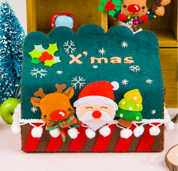 top selling christmas wool felt beautiful wholesale napkin holders for table