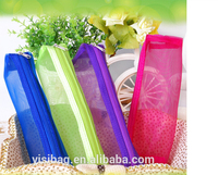 zipper nylon mesh wholesale pencil pouch