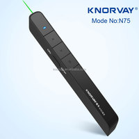 N75 usb rechargeable green laser pointer pen,remote powerpoint slide changer,rf wireless slide changer laser pointer