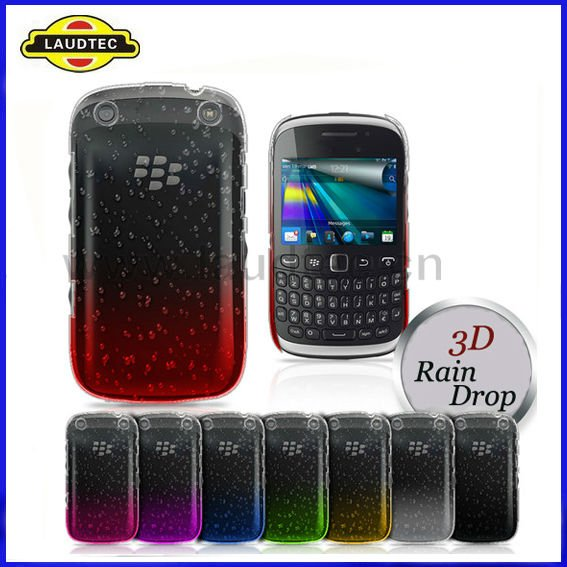 3D RAIN DROP DESIGN HARD CASE COVER For BlackBerry Curve 8520,High quality---Laudtec