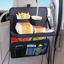 Auto Back Seat Folding Table Car Organizer Drink