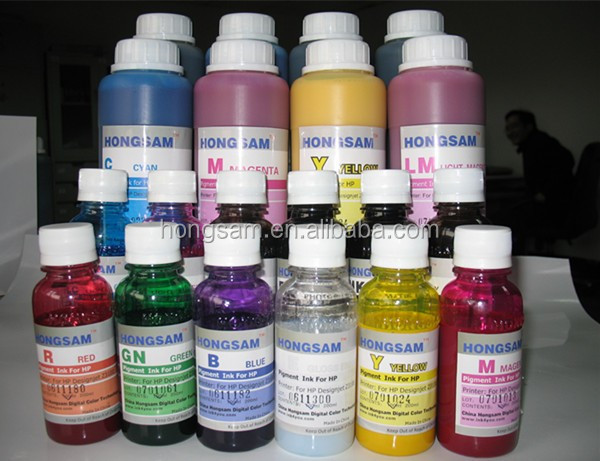 Good fluency water based pigment ink for epson canon hp printer