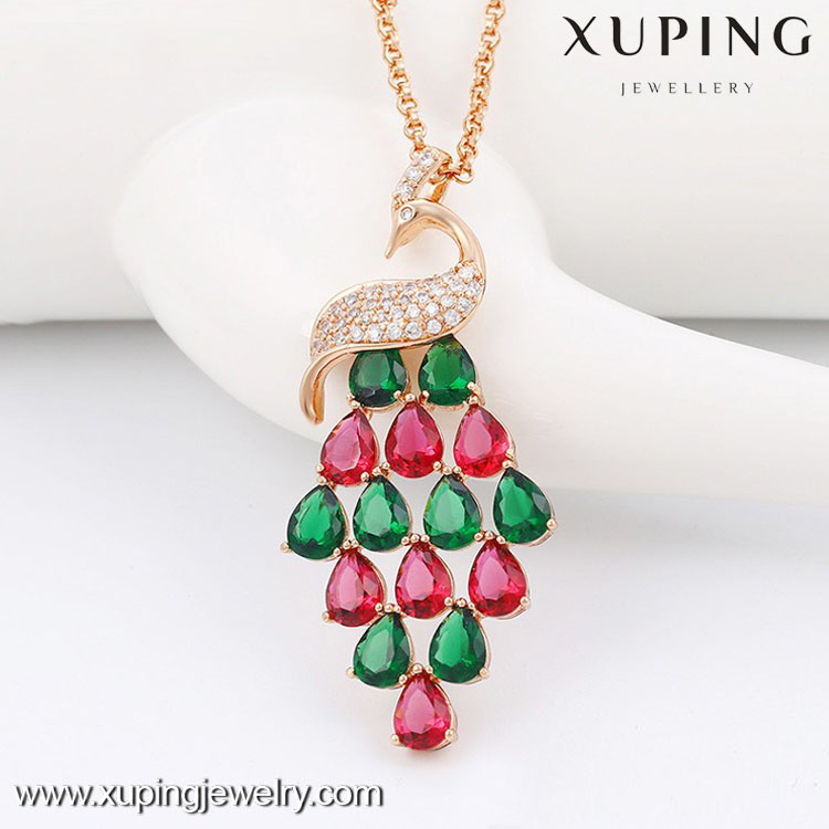 42893 Fashion jewellery personalized, girls jewellery necklace, new model peacock necklace indian jewellery